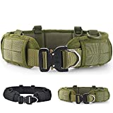 Weitars Tactical Battle Belt with Outer Molle Belt and Inner Riggers Belt, Gun Belt Heavy Duty Belt Military Belt for Men with Cobra Buckle (ArmyGreen)