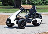 First Drive Electric Go Kart 12V White - Electric Power Ride On Toy Kids Car