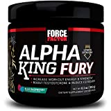 Force Factor Alpha King Fury Drink Powder with AlphaFen, CarnoSyn, and L-Citrulline to Boost Testosterone, Reduce Estrogen, and Improve Physical Performance, 20 Servings