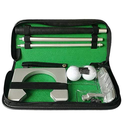 Portátil Golf Putter Putter Diestro Kit De Metal Putter del Equipo con La Pelota De Golf Agujero De La Práctica para El Entrenamiento Al Aire Libre De Interior