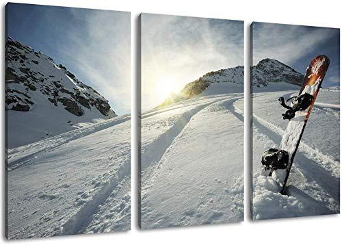 Snowboard Im Schnee Leinwand Malerei Poster Wandkunst Bild Druck Auf Leinwand Wohnzimmer Schlafzimmer Küche Büro Wohnkultur Wandbild