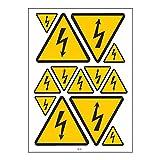 Tabla A4 advertencia Pegatinas de vinilo adhesivo-B75 electricidad