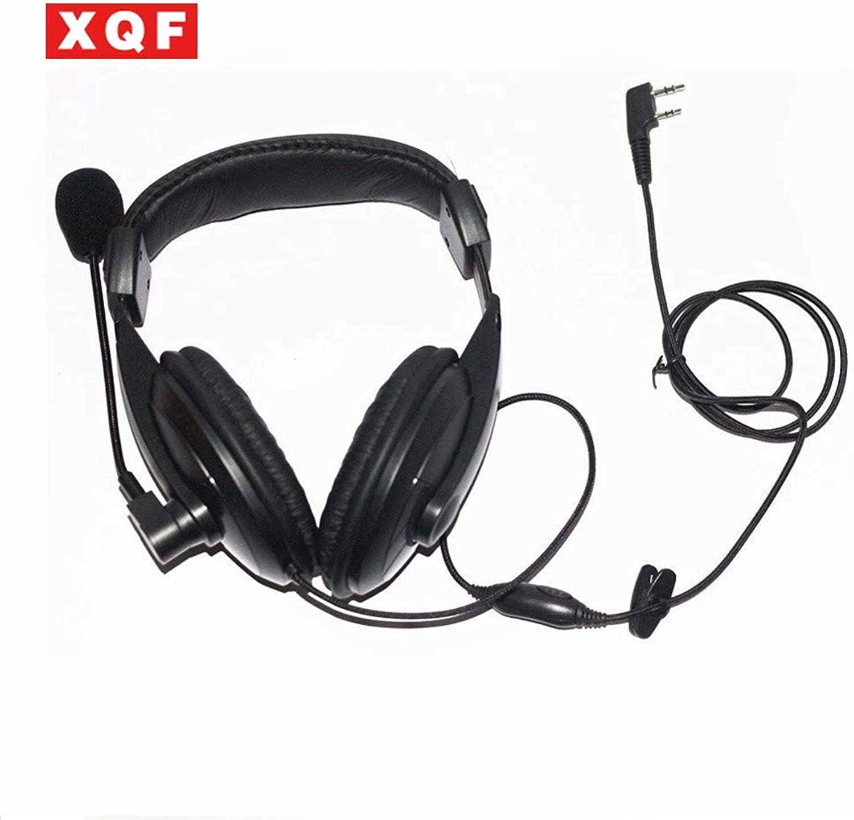 XQF Noise Cancelling Overhead Headset for Kenwood Radio TK2100 3100 TK2200 3200 Radio   Black