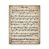 Fur Elise Vintage Noten Poster Beethoven Klassische
