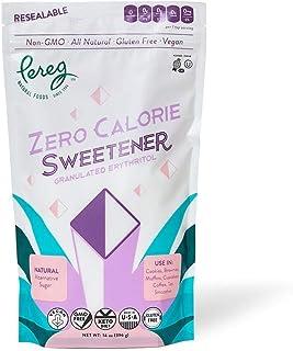 Pereg Zero Calorie Sweetener - 14 Oz - Natural Sweet Sugar Substitute for Keto Diet - Granulated Erythritol Sweetener - Su...