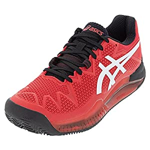 ASICS Men's Gel-Resolution 8 Clay Tennis Shoes, 10.5, Electric RED/White