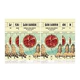 San Jamon pack de 6 sobres de 100 g de Jamón de Cebo Ibérico Loncheado