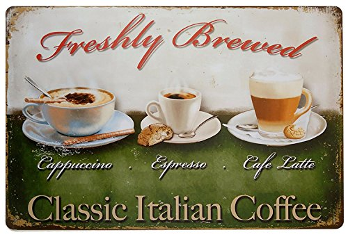italian coffees Classic Italian Coffee Tin Sign Wall Retro Metal Bar Pub Poster Metal 12 X 8