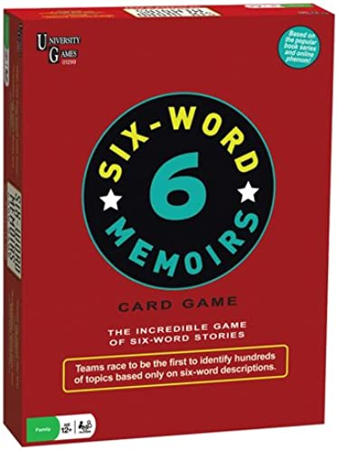 6 Word Memoirs Family Card Game
