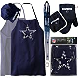 Dallas Cowboys ( Apron Set with Oven Mitt and Ombre Lanyard ) Back Yard Tailgate BBQ Set NFL