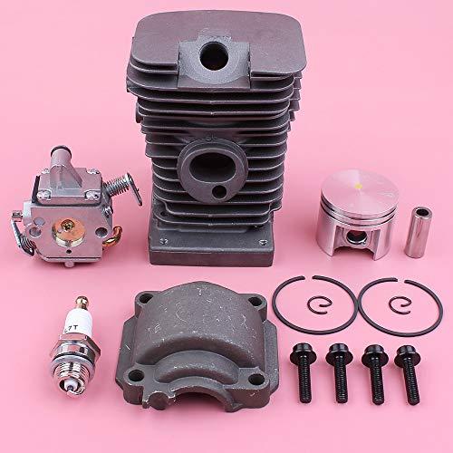 HAOHAO Zylinderkolbenmotor Pan Schraube Vergaser Kit for Stihl MS180 018 MS 180 Zama Carb Kettensäge Ersatzteil