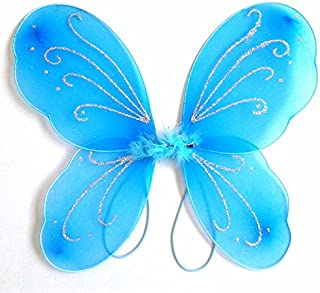 Dushi Girls Butterfly Craze Fairy Wings for Fairy Costumes Party Favor (Blue) …