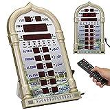 AL-HARAMEEN Azan reloj de oración, LED reloj de pared para