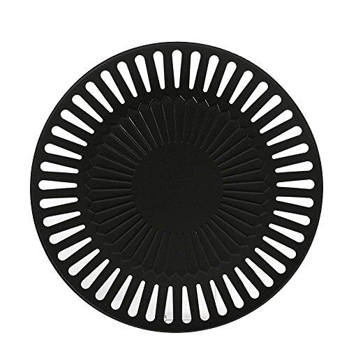 Zerodis Grillrost Grillplatte BBQ Grill Zubehör Einschließlich Antihaft Grillplatte und Aluminium Tropfschale