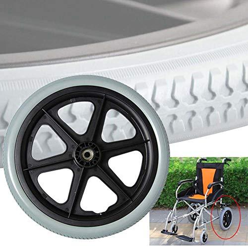 WYCD 2 Stück 16 Zoll Rollstuhlräder,Abriebfest Vollreifen,Ersatzräder Ersatzrollen Ersatz Lenkrollen für Rollstuhl, Langlebig Nutzung