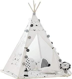 HO-TBO lektält, vikbar bomull kanvas tipi barn fotografi rekvisita Indoor Outdoor Indiankid tipi tält med matt fönsterväsk...