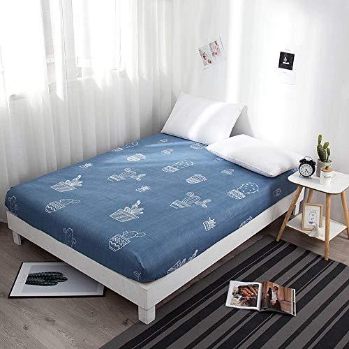 LUOYLYM Glatte Wasserdichte Matratzenbezug Anti Milben Matratze Wiederverwendbare Bett Pad Bettlaken Bett Bug Proof Matratze Topper Protector F5135*200+25cm