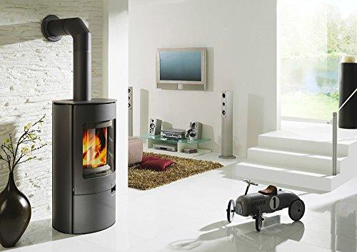 Koppe Stahl-Kaminofen Gismo 7 KW braun mit Holzlegefach Wirkungsgrad über 80 %