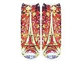 Unbekannt Socken bunt mit lustigen Motiven Print Socken Motivsocken Damen Herren ALSINO, Variante wählen:SO-L030 Eiffelturm