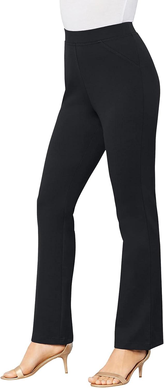 Roamans Women's Plus Size Bootcut Ultimate Ponte Pant Stretch Knit