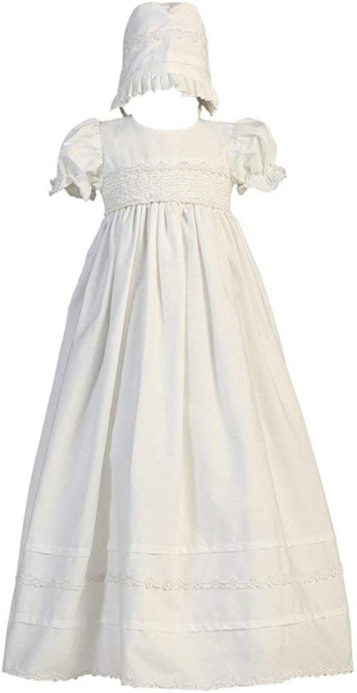 Girls White Cotton Christening Gown with Set In 5 ☆ popular or Jacksonville Mall Bonnet - Baby