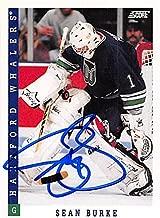 Autograph 179253 Hartford Whalers Ft 1993 Score No. 126 Sean Burke Autographed Hockey Card