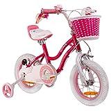 RoyalBaby Star Girl, vélo enfants pour filles de 3 à 6 ans, 12-14-16 pouces, avec...