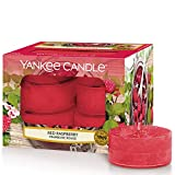 Yankee Candle Bougies Chauffe-Plat Parfumées | Framboise rouge | Boîte de 12 Lumignons