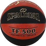 Spalding ACB-L.Endesa Tf500 Sz. 7 (76-287Z) Balón de Baloncesto, Unisex Adulto, Naranja Oscuro/Negro