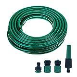 10 m Wasserschlauch Set 3/4 Zoll Gartenschlauch Bewässerungsschlauch Flexibler Schlauch mit Adapter (3/4 Zoll x 10)