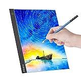 Aibecy Panel de luz LED A3 Tableta gráfica Tablero de luz Tableta digital Tablero de copiado con brillo de 3 niveles regulable para trazado Dibujo Copia Visualización Diamante Pintura Suministros