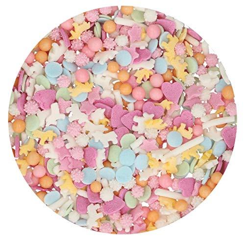 FunCakes Sprinkle Medley Unicornio: Sprinkles para Tartas, Gran Sabor, Perfecto para Decorar...