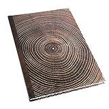 Logbuch-Verlag Cuaderno DIN A4, tapa dura con páginas en blanco, diario con aspecto de madera, anillos anuales, color marrón