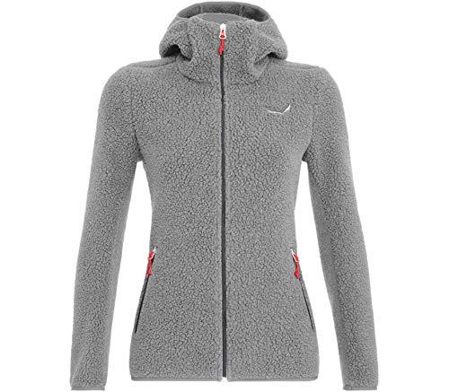 Salewa W Fanes Shearling Wool Jacket Grau, Damen Merino Isolationsjacke, Größe 40 - Farbe Silver Melange