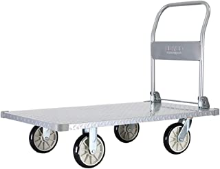 Folding Aluminum Platform Cart Flatbed Hand Truck Push Moving Dolly Trolley