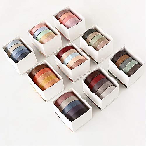 MOPOIN IWILCS Washi Tape Set, 45 Rollen Klebeband Washi Tape Dekorativer Klebstoff Washi Masking Tape Sticker im japanischen Stil für Kunst und Heimwerker, Verschönern Bullet Journals, Scrapbooking