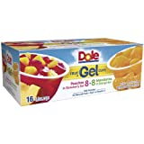 Dole Fruit In Gel Cups - Variety Pack, 16 x 4.3 oz