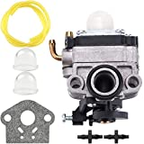 Kuupo 753-06220 Carburetor for Troy Bilt Built TB575EC TB525EC Curve Shaft Gas String Trimmer 575EC Carb MTD 753-06220A Parts Kit