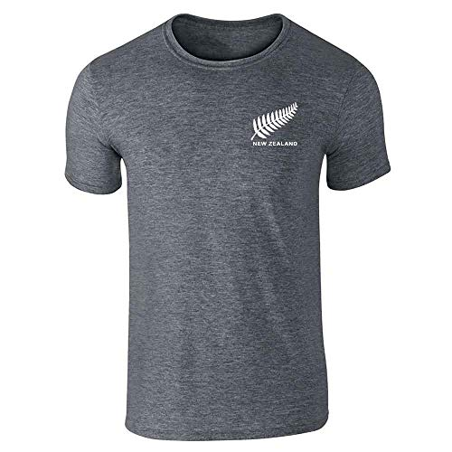 New Zealand Soccer Retro National Team Jersey Dark Heather Gray L Graphic Tee T-Shirt for Men