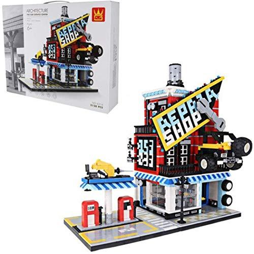YZHM Car Service Tienda Vivienda Modular Juego de construcción, construcción de viviendas modulares Conjunto Compatible con Lego - 2120 PCS