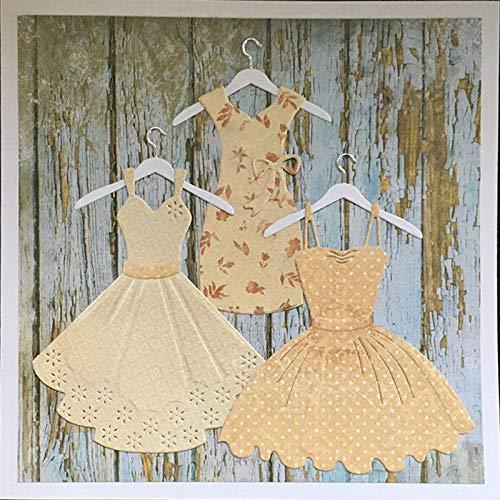 LIUYB Schneidwerkzeuge 3pcs Neuer Werkzeuge Cut-Frauen-Kleid, Form, Muster DIY Stencils Scrapbooking Fotoalbum Prägung Papierkarte Dekor