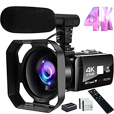Video Camera 4K Camcorder 48MP Image Vlogging Camera with Wi-Fi 18X Digital Zoom YouTube Camera with Microphone, 3'' Touch Screen and Remote Control from S & P Safe and Perfect