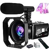 Video Camera 4K Camcorder 48MP Image Vlogging Camera with Wi-Fi...
