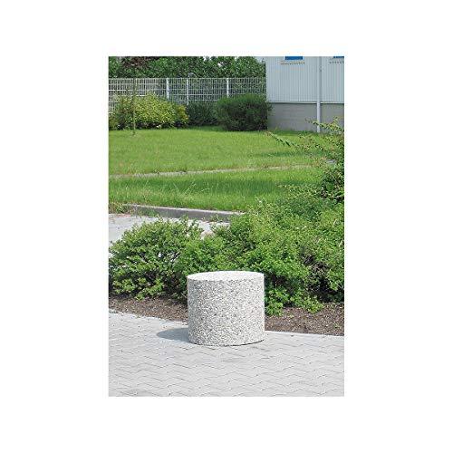 Certeo Betonpoller | rund | Ø 47 cm | Beton Anfahrschutz Poller Rammschutz Wegsperre Sperre Straßensperre Betonelement