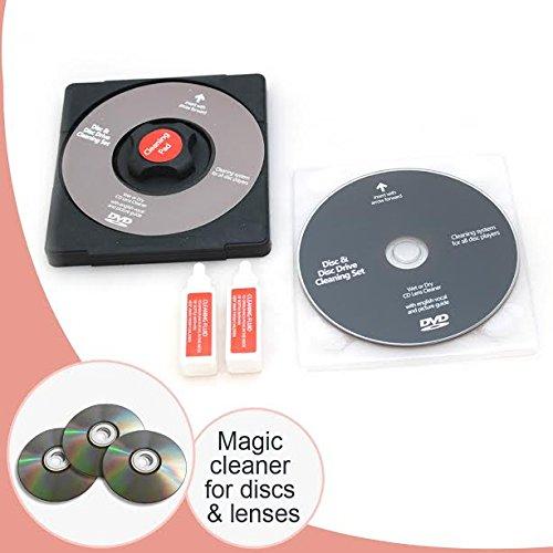 CD/DVD Disc Lens Cleaner/Cleaning Solution Set Fluid Laser Lens Voor Laptop, Computer, CD Repair Kit Wii Xbox