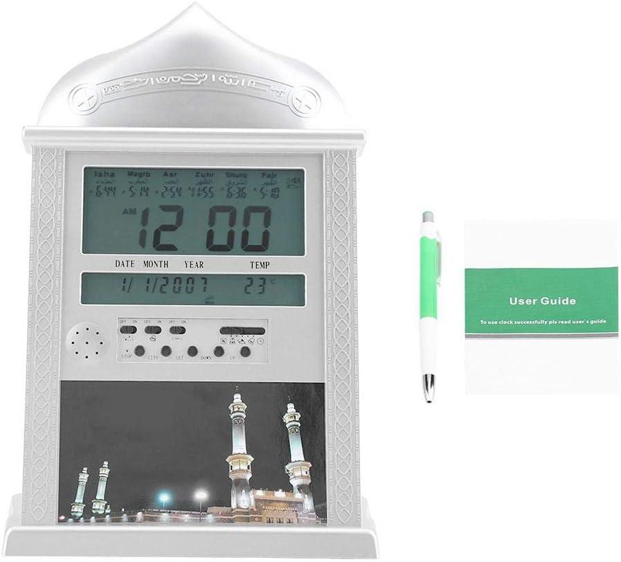 Fixed price for sale AUNMAS Muslim Islamic Praying Clock Silver ...
