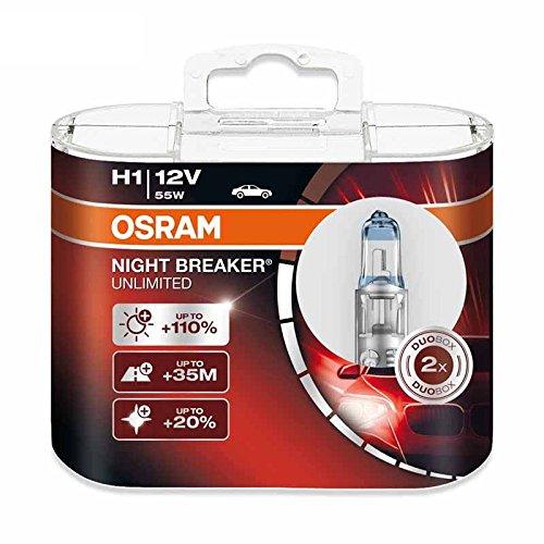Osram H1 12V 55W 64150NBU Night Breaker Unlimited Auto Lampen Halogen Scheinwerfer Paar