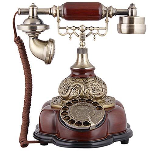 JNYTD Retro-telefoon Continental retro vaste net-vintage tellen platenspeler Dial Home Office Decoratie