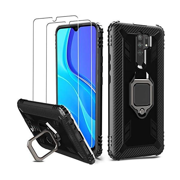 - HD - QHOHQ 2 Piezas Protector de Pantalla para Xiaomi Redmi 9 con 2 Piezas Protector de Lente de C/ámara Anti-Ara/ñazos Cristal Templado Membrana, 9H Dureza