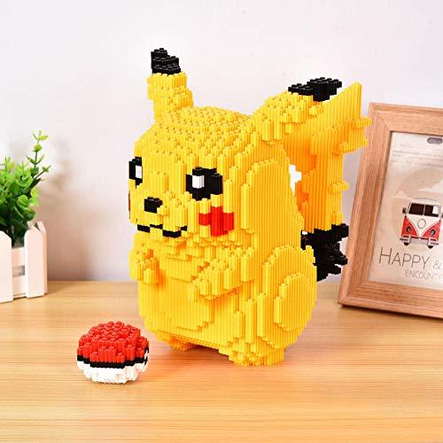 Mikroblöcke Miniaturbausteine, kleine Partikel, Puzzle-Kinder-Ornamente - Pikachu-Nano-Steine